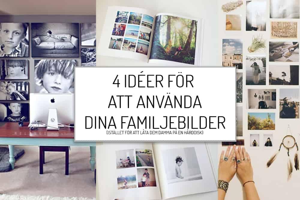 4 idéer för familjebilderna
